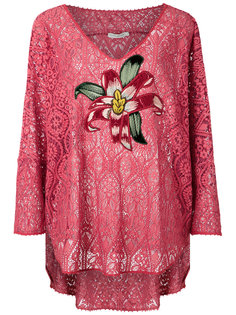lace embroidered blouse Martha Medeiros