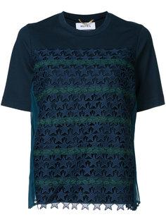 футболка с ажурной звездной отделкой  Muveil