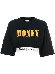 укороченная футболка с логотипом  Palm Angels