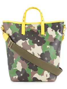 сумка-тоут с цветочным камуфляжным принтом  Muveil