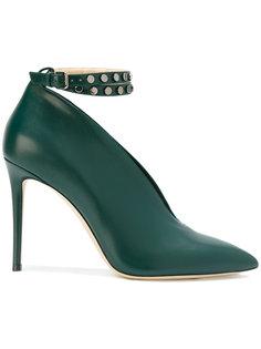туфли со стеганным ремешком на щиколотке Jimmy Choo