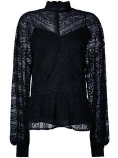 кружевная блузка с рукавами-баллон Muveil
