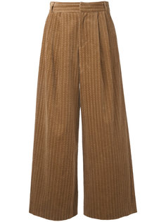 широкие брюки из вельвета с косичками Muveil