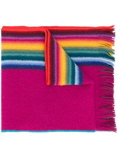 полосатый шарф с бахромой Paul Smith