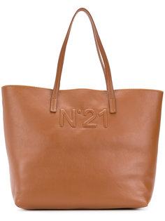 сумка-тоут с тисненым логотипом Nº21