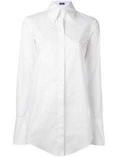 однотонная рубашка Jil Sander Navy