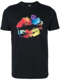футболка с принтом губ Ps By Paul Smith