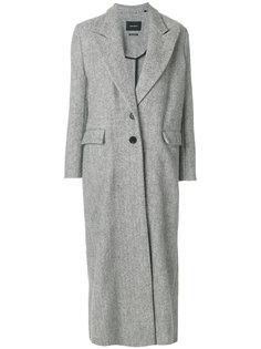 длинное однобортное пальто  Isabel Marant