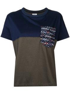 футболка с твидовым карманом COOHEM