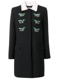 пальто с контрастным воротником  Vivetta