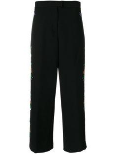 широкие брюки с цветочной вышивкой  Vivetta