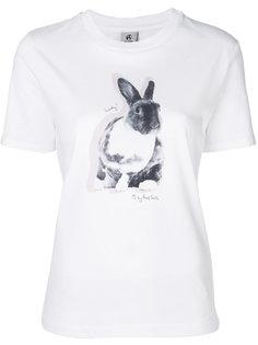 футболка с кроликом  Paul Smith