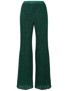 трикотажные брюки с люрексом  Missoni