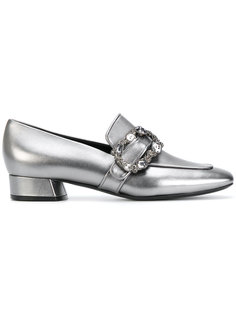 crystal buckle loafers Casadei