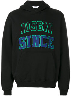 embroidered hoodie MSGM