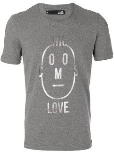 футболка с принтом лица Love Moschino