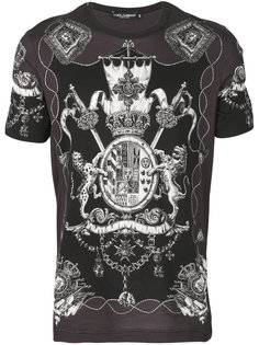 футболка с принтом эмблемы Dolce & Gabbana