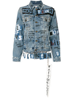 джинсовая куртка с отделкой в стиле граффити  Faith Connexion
