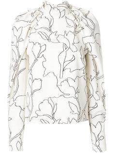 присборенная блузка с цветочным принтом  Carven