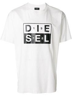 футболка с принтом-логотипом Diesel