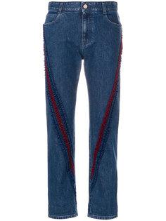 джинсы бойфренды с оборками Stella McCartney