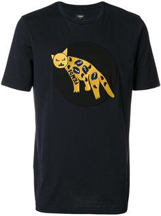 футболка с заплаткой в виде леопарда Fendi