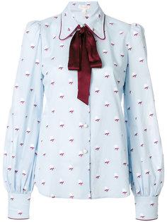 блузка с завязкой на шее и розами  Marc Jacobs