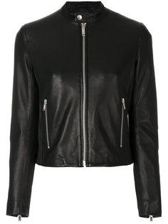 байкерская куртка с воротником на пуговице Dondup