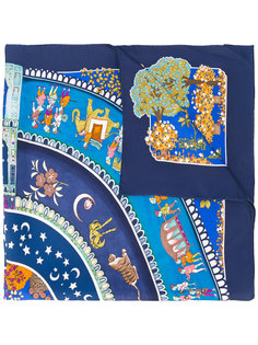 шарф с принтом Maharaja Garden Parade Salvatore Ferragamo