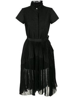 плиссированное платье  Sacai