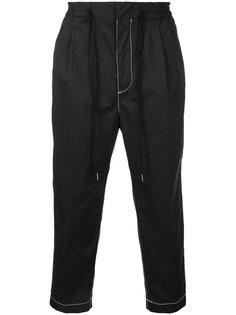 укороченные брюки с контрастной строчкой monkey time
