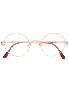 round framed glasses Fendi Vintage