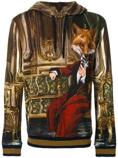 толстовка с капюшоном и принтом Mr Fox Dolce & Gabbana