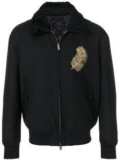 куртка бомбер с вышивкой Alexander McQueen