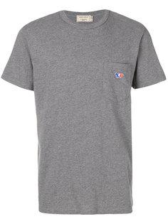 футболка с заплаткой в виде лисы Maison Kitsuné