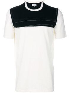 """прошитая футболка дизайна """"колор-блок"""" Maison Margiela"""