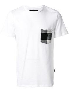 футболка с карманом в клетку Hydrogen