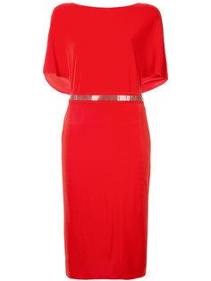 платье с сетчатым поясом  Lanvin