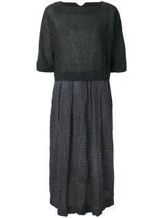 плиссированное платье с вышивкой  Daniela Gregis