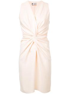 платье с узлом на талии  Lanvin