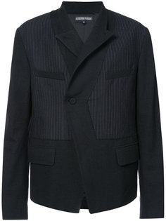 symmetric stripe panel jacket Alexandre Plokhov