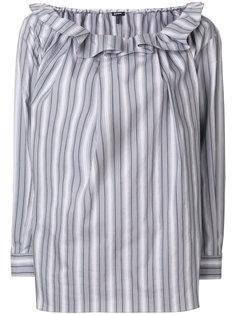 блузка с оборкой  Jil Sander Navy