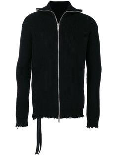 свитер на молнии с необработанными краями Unravel Project