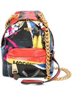 мини сумка на плечо в форме рюкзака Moschino