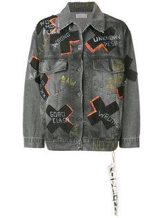джинсовая куртка с принтом Faith Connexion
