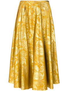 жаккардовая блузка с цветами Rochas