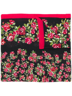 шарф с принтом роз Dolce & Gabbana