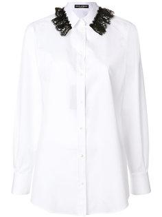 рубашка с отделкой кружевом Dolce & Gabbana