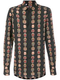 рубашка с принтом гербов Dolce & Gabbana