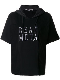 embroidered death metal hoodie McQ Alexander McQueen